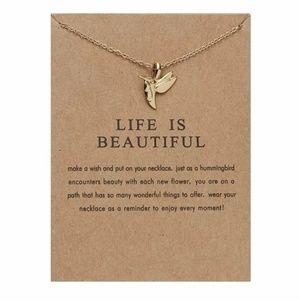 Jewelry - Life is Beautiful Hummingbird Necklace